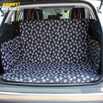 CAWAYI KENNEL Black Footprint Oxford Waterproof Pet Dog Cat Car Trunk Mat Carrier Cover Pet Blanket Cover Mat Protector D1086