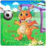 MUQGEW Wooden Puzzle Jigsaw Wooden Toys For Children Cute Cartoon Animal Puzzles Intelligence Kids Children Educational Toy