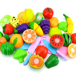 8PC DIY Pretend Play Baby Kitchen Plastic Food Toy Set Cooking Cutting Fruit Children Kid Educational Toys For children Girls