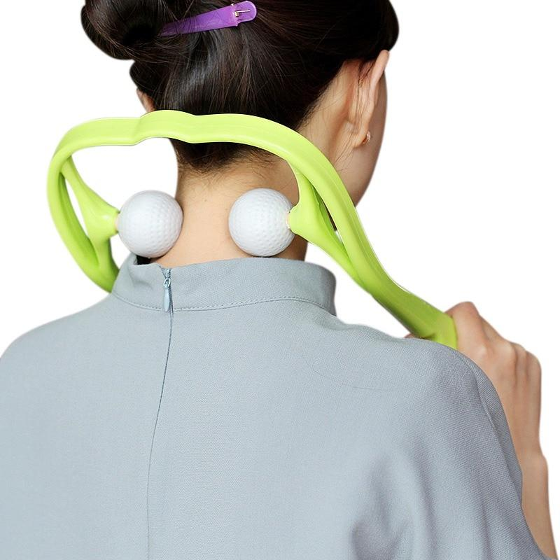 Dual Trigger Point Self-Massager for Neck & Shoulders