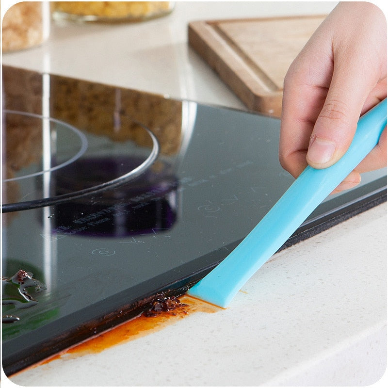 1Pcs Kitchen Gadgets Cleaner Crevice Cleaning Scraper Kitchen Accessories Cocina Creativa Cleaning for Mutfak Aksesuarlari.Q