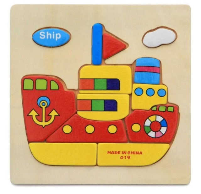 3D Wooden Puzzle Jigsaw Toys