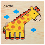 Wooden Jigsaw Puzzle Animals Cartoons For Kids