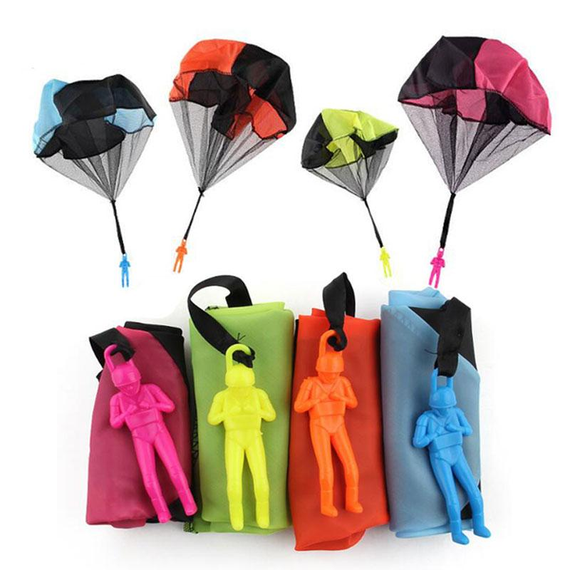 TUKATO Hand Throwing Mini Play Soldier Parachute Toys For Kids Outdoor Fun Sports Children's Educational Parachute Game