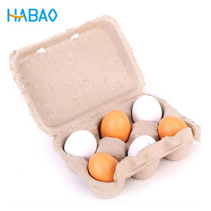 6pcs/Set Wooden egg toys for children  girls toys  kitchen toys minoxidil pretend play the goods for kitchen yeast