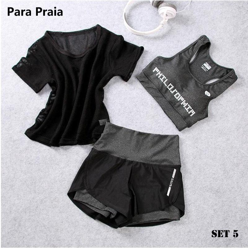 Three Piece Yoga Set Sportswear