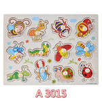 Wooden Jigsaw Puzzle Alphabets Animals Numbers For Kids