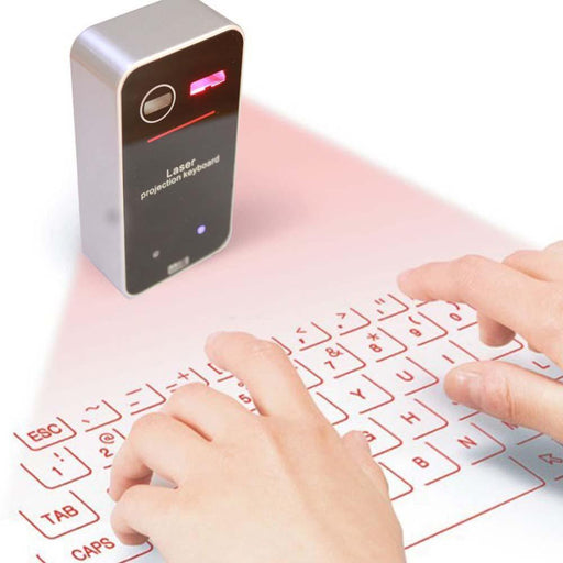 Portable Virtual Laser Bluetooth Keyboard With Mouse Function - For Smart Devices & Computers