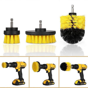 3pcs/set Electric Drill Power Scrubbing Brush Kit