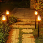 Outdoor Solar Flame Lights - Decorative Tiki Lights