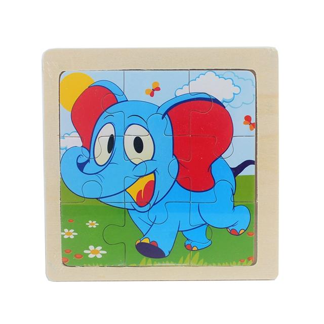 Kids Jigsaw Puzzle Board Game With Cartoon Pictures
