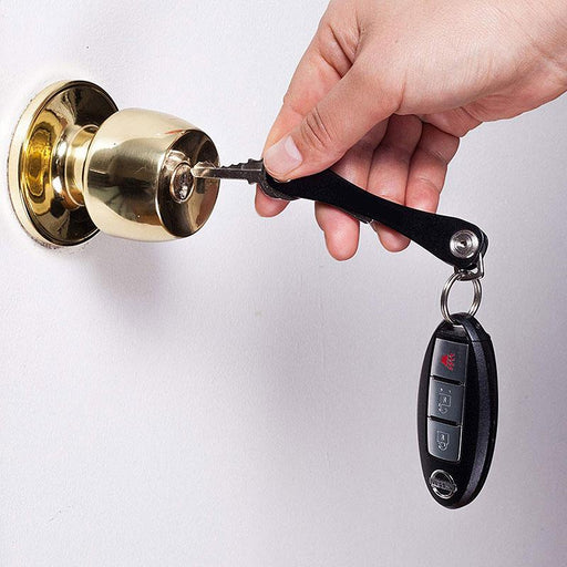 Expandable Key Holder & Keychain Organizer for Multiple Key Storage - Heavy Duty Aluminum