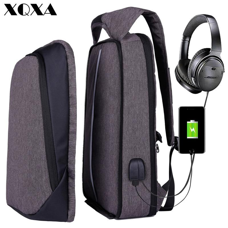 "XQXA Adjustable Unisex USB Charging Anti Theft Backpack - 17"" Laptops"