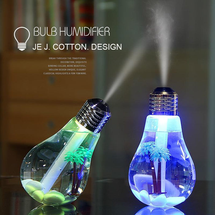 Diffuser Lamp - Ultrasonic Humidifier, Oil Diffuser and Mist Maker with LED Night Light