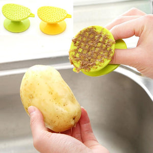 Carrot Yam Potato Brush Ginger Peeler Cleaner Brush Plastic Scraper Fruits Vegetable Brushes Easy Cleaning  Kitchen Accessories