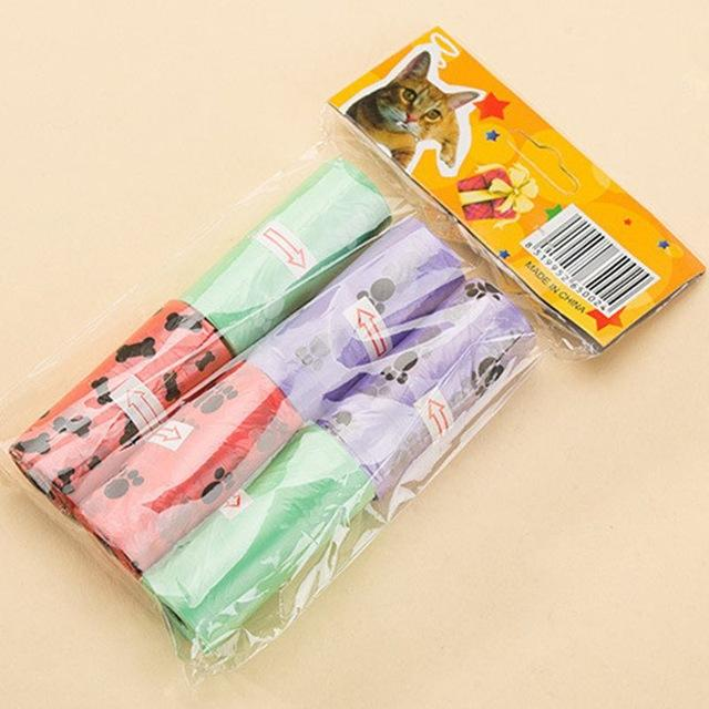 6 roll/Bag Dog Waste Poop Bag For Pooper Scooper Waste Bag Dog Accessories Cat 22*28 cm Pet Product Supplies 15 pcs/roll Small