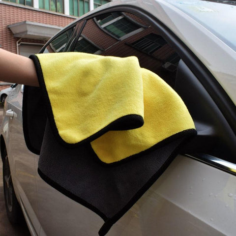 Super Absorbent Towel for Use as Vehicle Sham, Dish Cloth, and Cleaning Rag