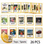 Kids English learning Word Card Children Learn English Learning Card Game for Baby Early Education Toys