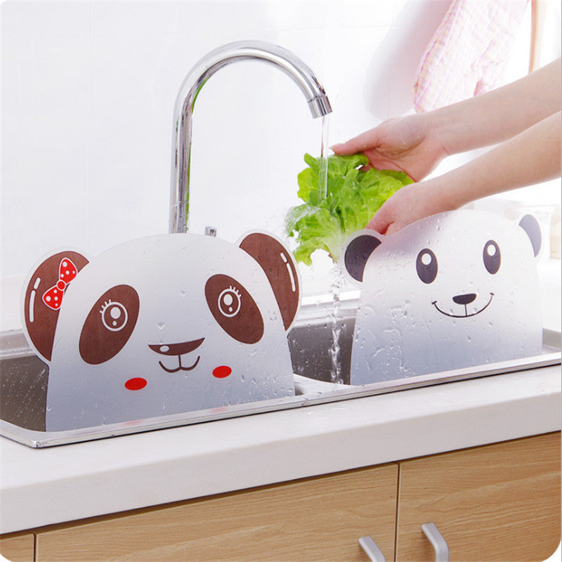 Cute Panda Sucker Cup Water Splash Water Impermeable Baffle Screen Basin Wash Basin Stand Kitchen Accessories Gadgets