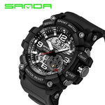 SANDA 759 Sports Men's Watches Top Brand Luxury Military Quartz Watch Men Waterproof S Shock Wristwatches relogio masculino 2018