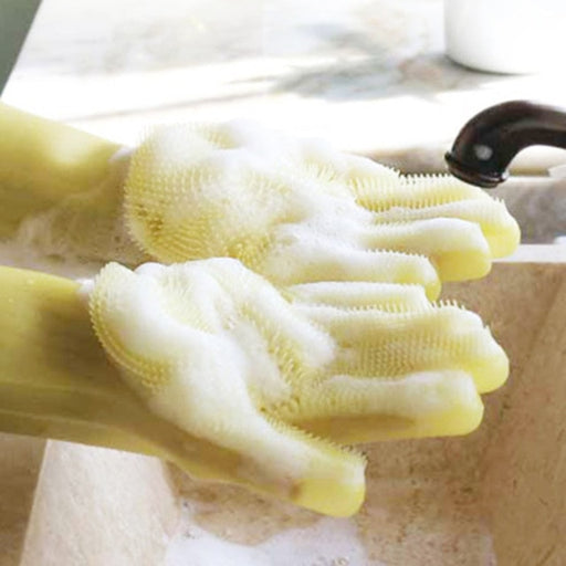 Magic Rubber Silicone Dish Washing Gloves