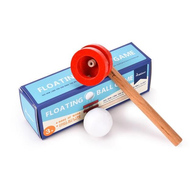 Kids Blowing Pipe MiDeer Floating Ball Wooden Blocks STEM Game Classic Fun Popular Learn Educational Toys for Children Boy Gift