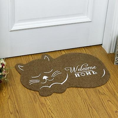 cat shape Door Mat 38*58cm Anti-slip Floormat Kitchen Carpet Toilet Tapete Water Absorption Rug Non-slip Porch mat CC-002