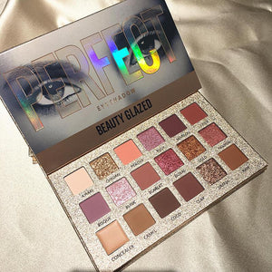 Beauty Glazed 18 Color Nude Shining Eyeshadow Palette Makeup Glitter Pigment Smoky Eye Shadow Pallete Waterproof Cosmetics