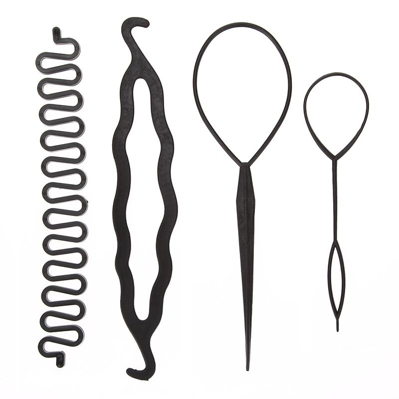 Four Piece Hair Braiding and Hair Styling Set