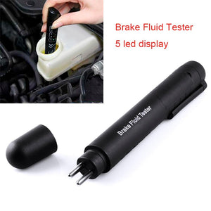 Brake Fluid Liquid Tester Car Brake Liquid Digital Tester For DOT3/DOT4 Automotive Testing 5 LED Car Diagnostic Indicator Pen