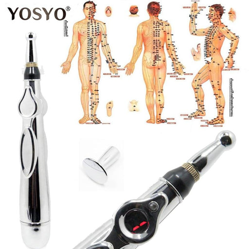 Electronic Laser Acupuncture Pen and Meridian Massager for Pain Relief