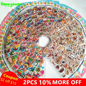Puffy Stickers Cars Animals Cartoons 50 Sheets