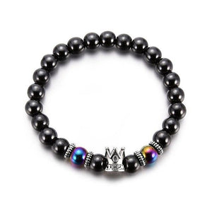 Transmit love  Lady's fashion Hematite man/woman/girl Black stone Magnetic Bracelet jewelry Lovers Health Care Magnetic gifts