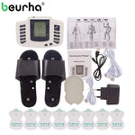 Beurha 16 Electrode Pads Electrical Stimulator Full Body Massage Tens Acupuncture Pulse Pain Relax Russian Button Health Care