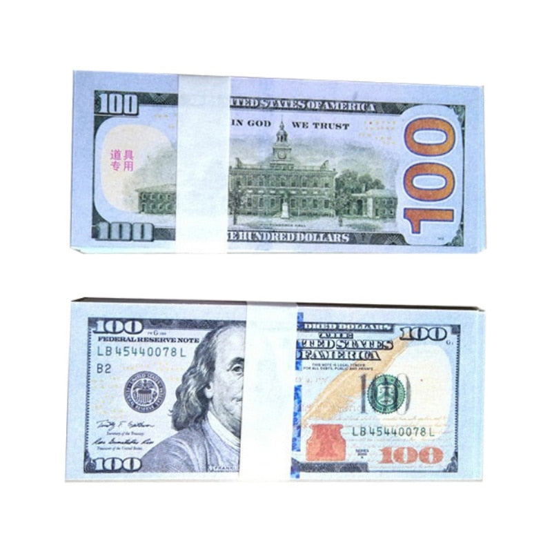 Fake Hundred Dollar Bill Prop For Parties, Pranks, and Gifts