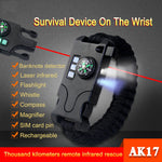 Military Grade Survival/Tactical Bracelet - 8-in-1 Multifunction