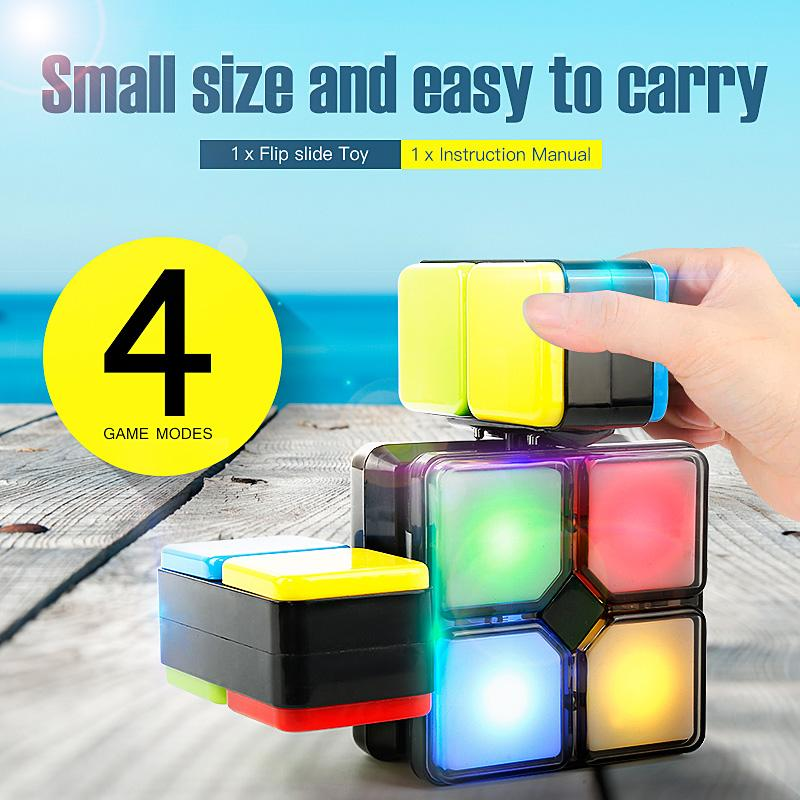 Electronic Music Cube Puzzle and Toy with Led Light