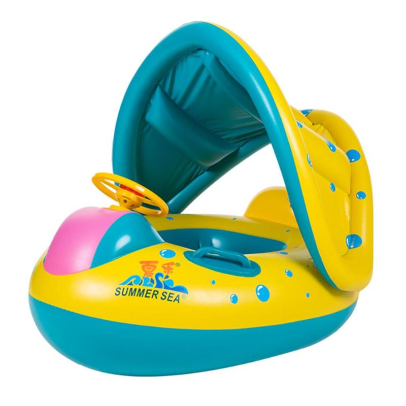 Shaded Baby Swim Float W/Fun Steering Wheel