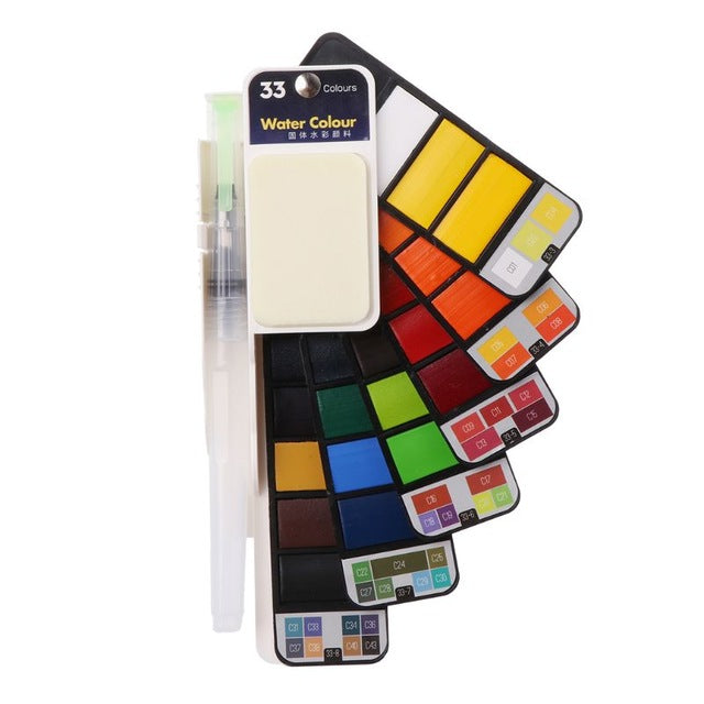 Colorful, Portable Watercolor Paint Set For Budding Artists (4 Sizes)