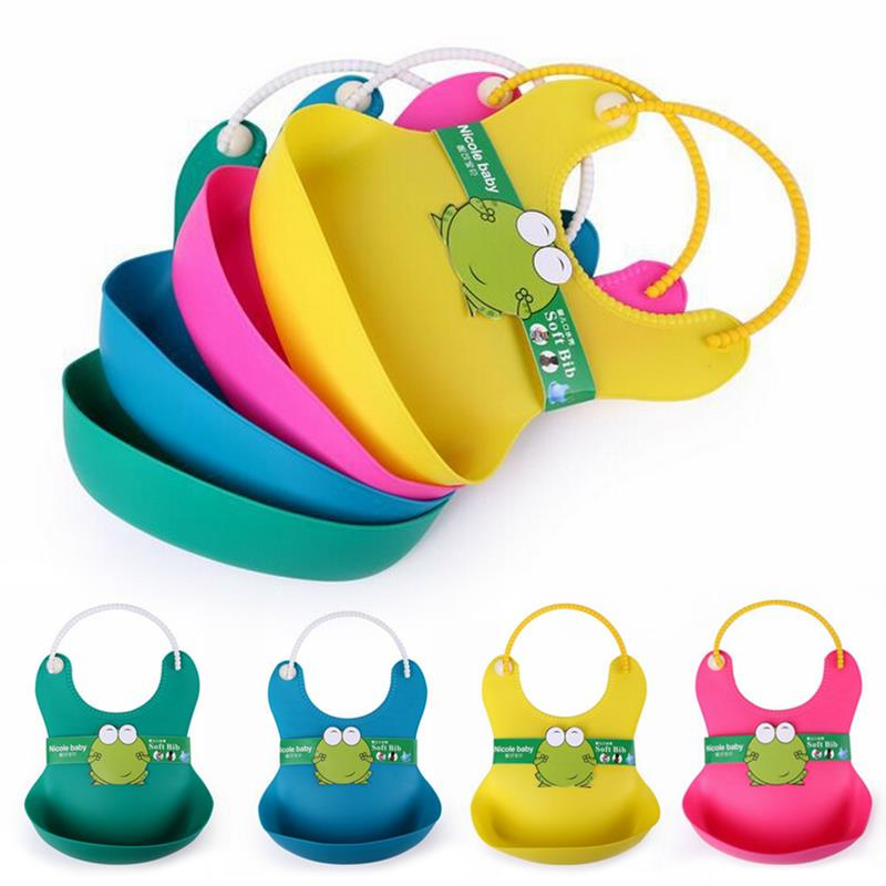 Colorful Silicone Baby Bib