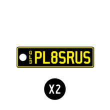 Load image into Gallery viewer, STANDARD ISSUE QLD PLATE - COLOURS ON BLACK - QLD Custom Keyring - PL8SRUS