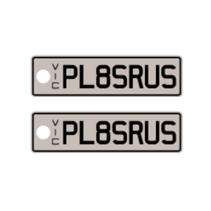 VIC Standard Issue Plate Keyring - PL8SRUS