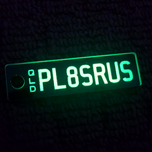 Load image into Gallery viewer, Glow in the DARK Range (All States) - Custom Keyring - PL8SRUS