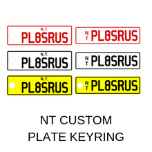 Load image into Gallery viewer, NT Custom Plate Keyring - PL8SRUS