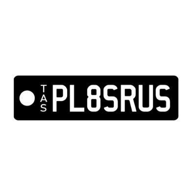 White Letter on Black Plate Combo - TAS Custom Keyring - PL8SRUS