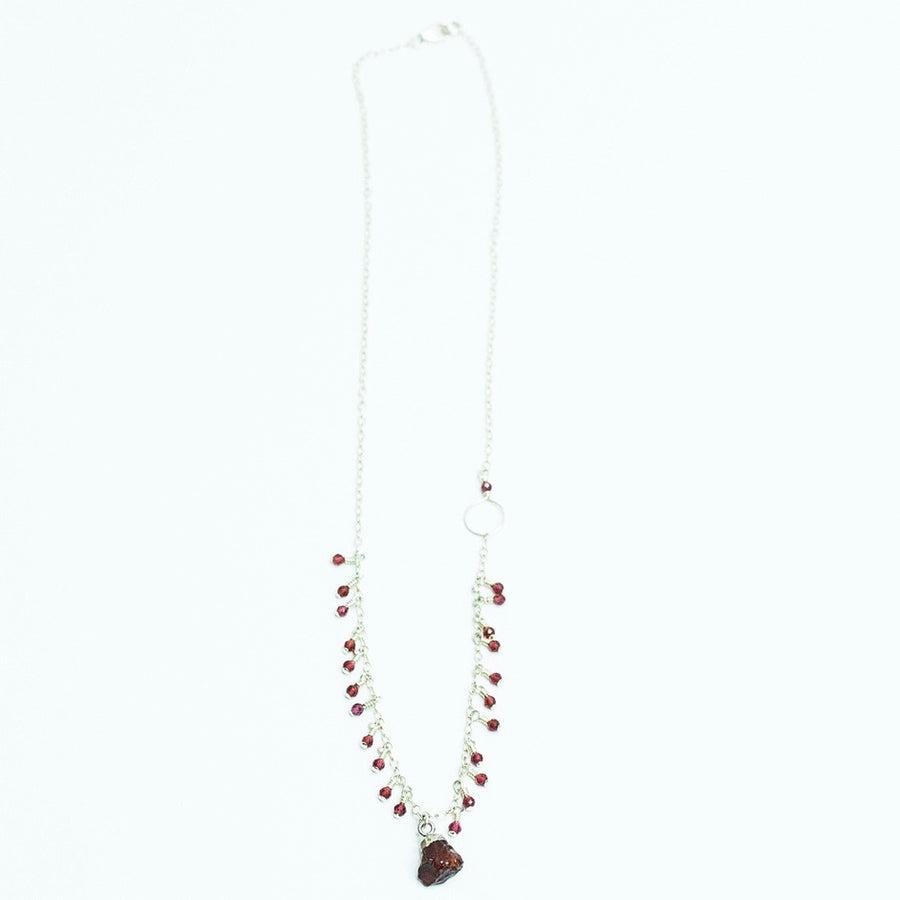 Garnet Ripples Necklace