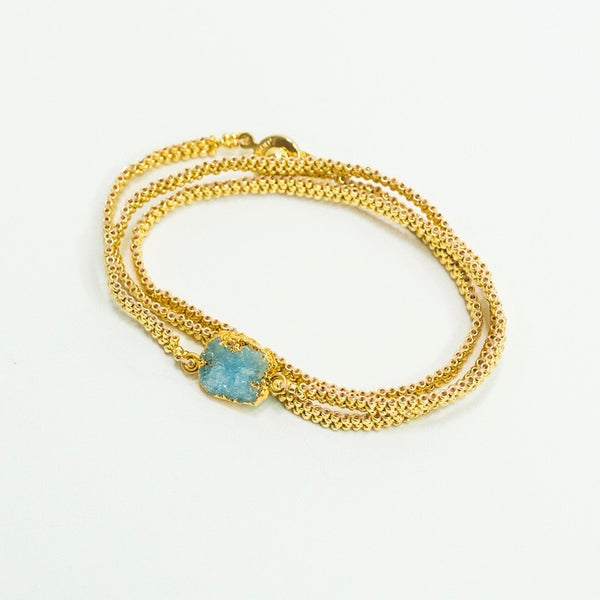 Druzy Cascade Bracelet or Necklace