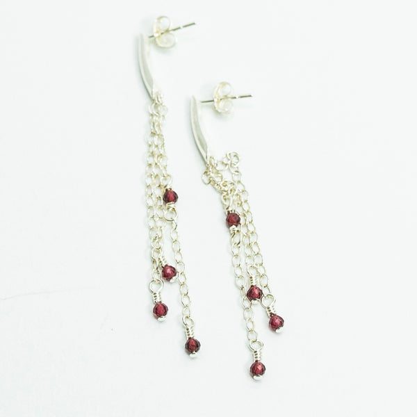 Garnet Ripple Earrings