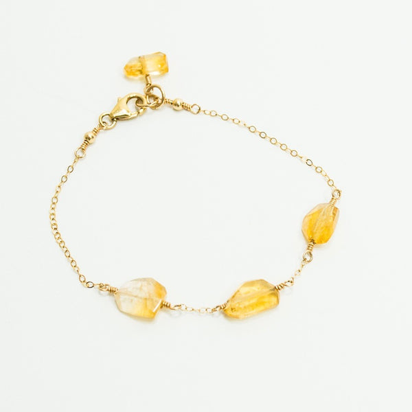 Citrine Stepping Stones Bracelet