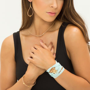 Aqua Silk Bracelet or Necklace